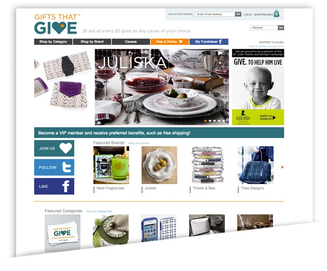 For Gifts that Give eCommerce Goals Combine with Social Responsibility