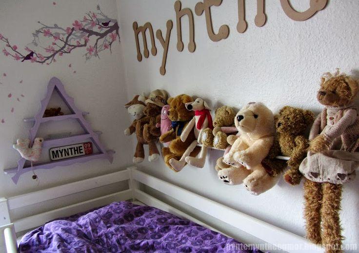 PynteMynthe og Mor: Et lille bitte børneværelse - opbevaring af bamser