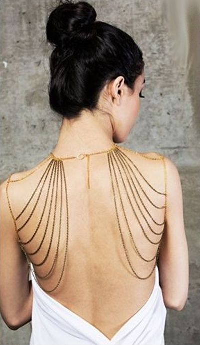 Drape shoulder chain   jewelry design