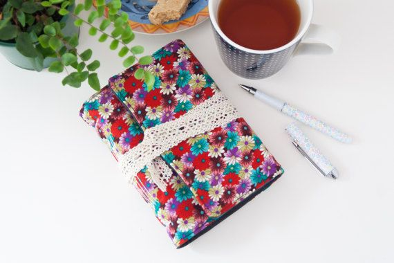 Colourful Floral Writing Journal. Unlined Handbound by Mettaville