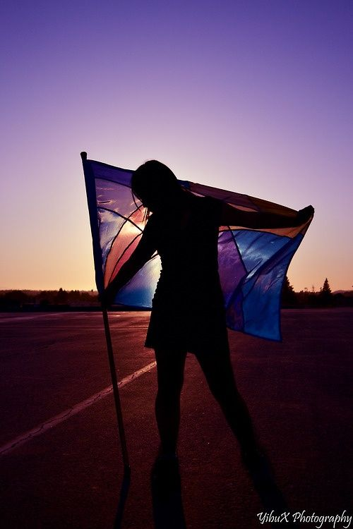 Love this color guard pose