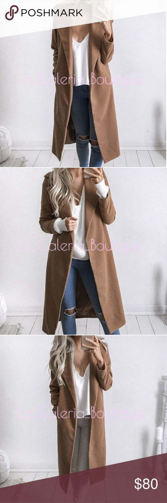 🆕️CAMEL TAN LONG TRENCH COAT DUSTER JACKET 🆕️CAMEL TAN TRENCH COAT DUSTER JACKET  COLOR: CAMEL MATERIAL: Polyester 100% BRAND NEW   High quality, sexy, stylish and comfortable. It is very popular and sexy design, you will love it! Runs small so, Please go up a size! Manual measurement, There is 2-3% difference according to manual measurement. please check the measurement chart carefully before you buy the item. Please note that slight color difference should be acceptable due to the light…