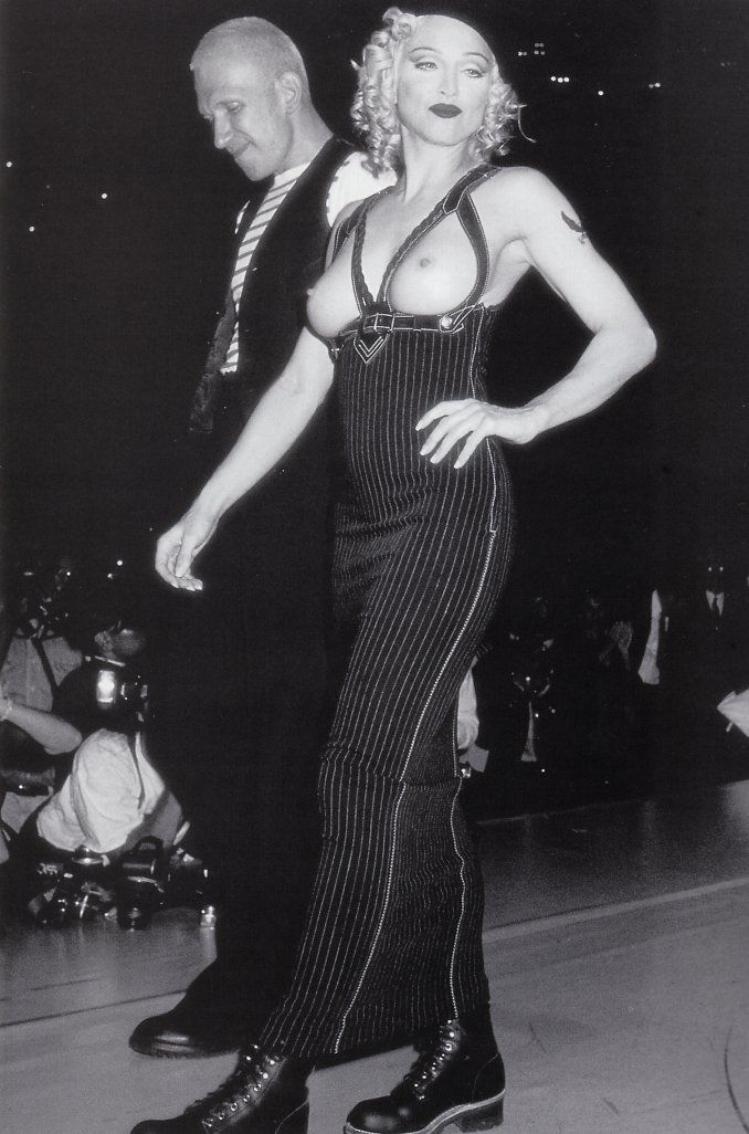 1992 - Jean Paul Gaultier AIDS Benefit gala show in Los Angeles - Madonna & JPG