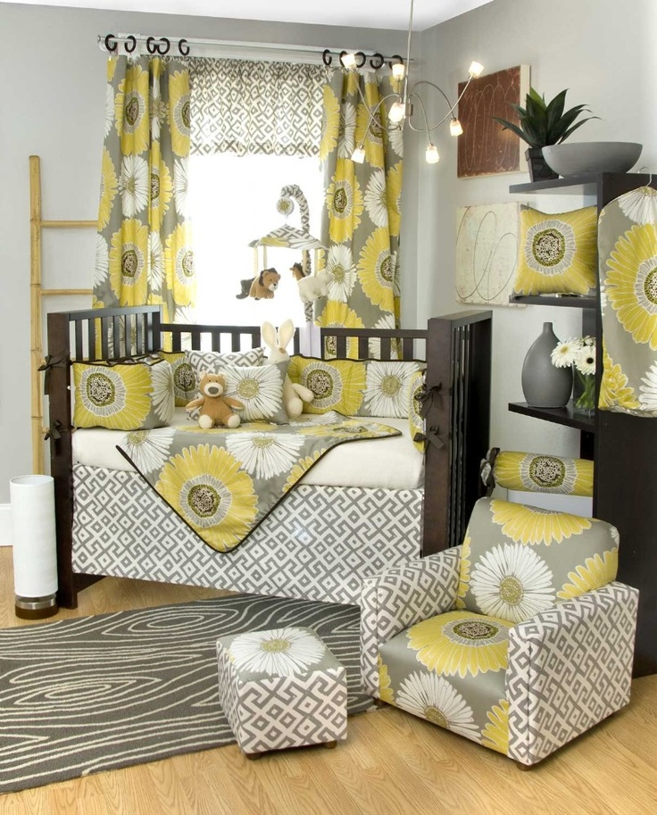 Love the grey and yellow combo, this is the colors for our nursery, but not this design. Love it!