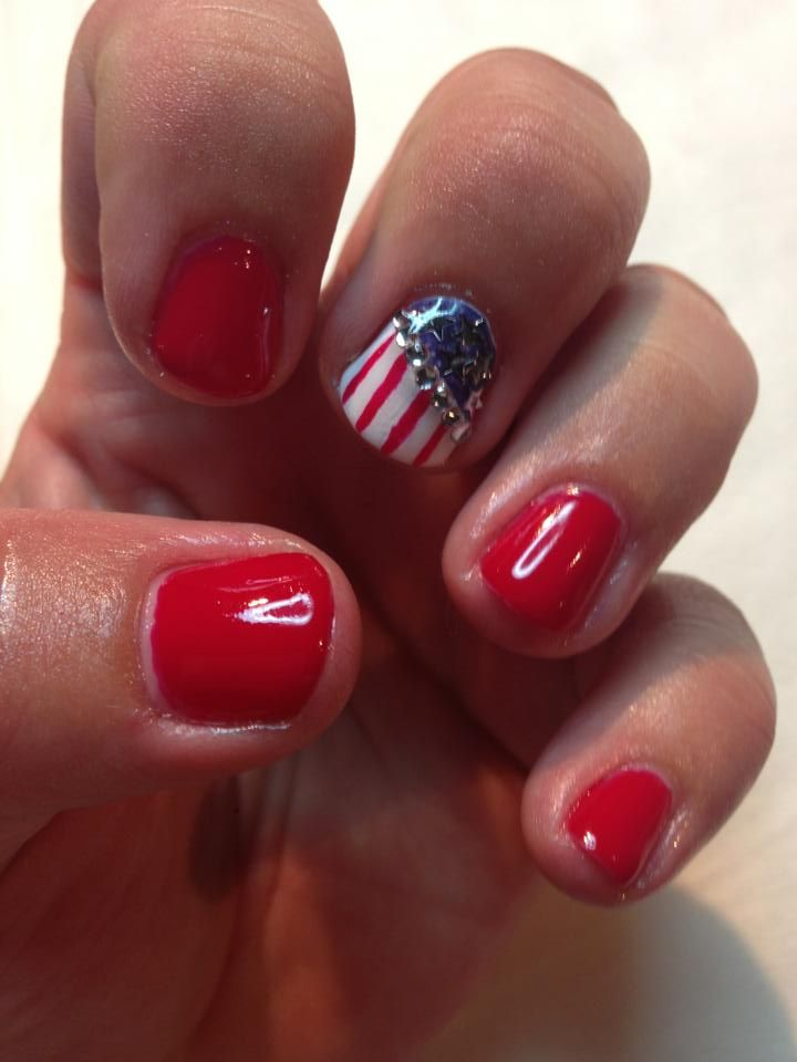 July the 4th nails in Shellac | pjspamperparties@yahoo.co.uk | Pinter
