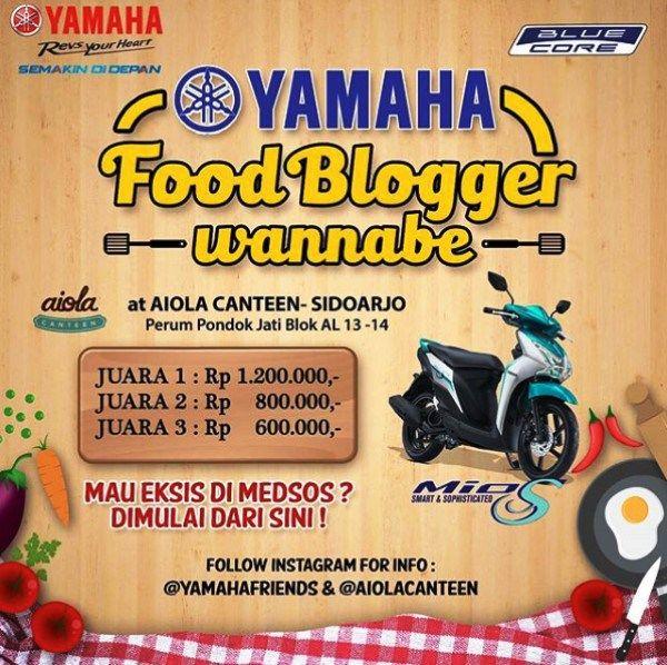 Kontes Yamaha Food Blogger Wannabe dan menangkan Hadiah Jutaan Rupiah