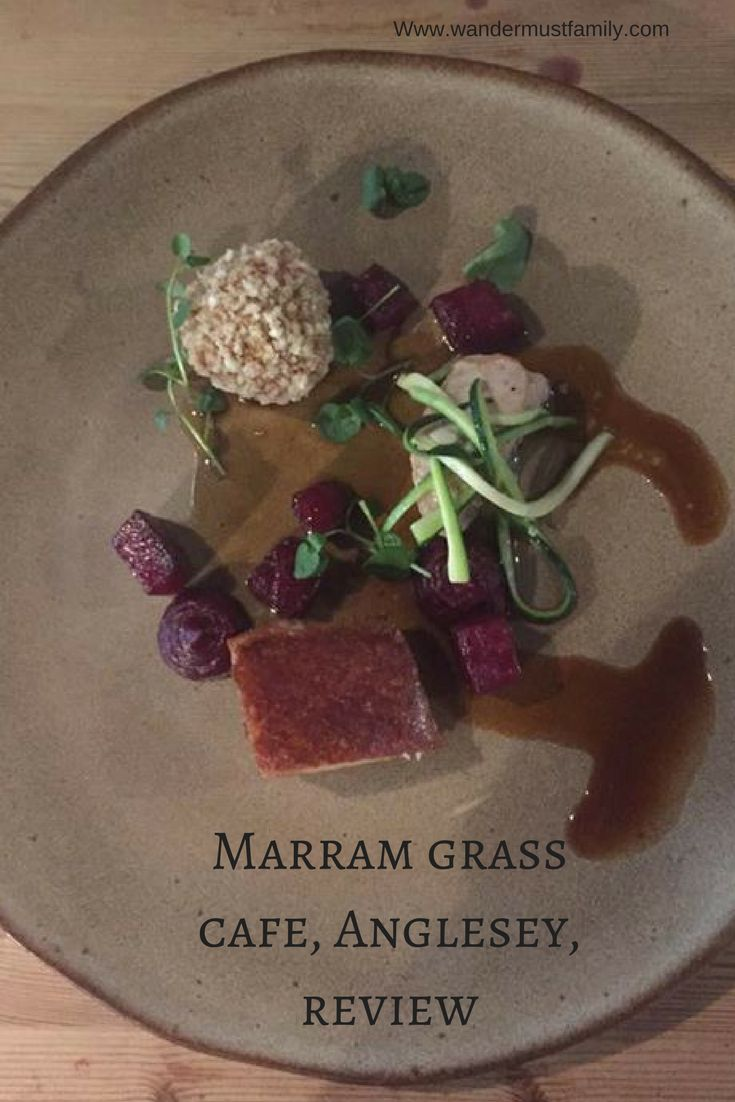 A review of Ellis Barrie, from the great British menu, restaurant the marram grass cafe Anglesey