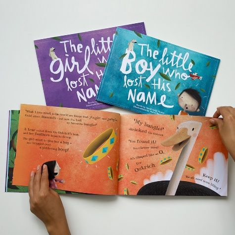 Beautifully written and illustrated, every name creates a different story in this personalised children's book 'Lost My Name'.