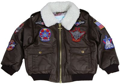 Baby bomber jacket. We could do father and son pics with jackets and aviators :)
