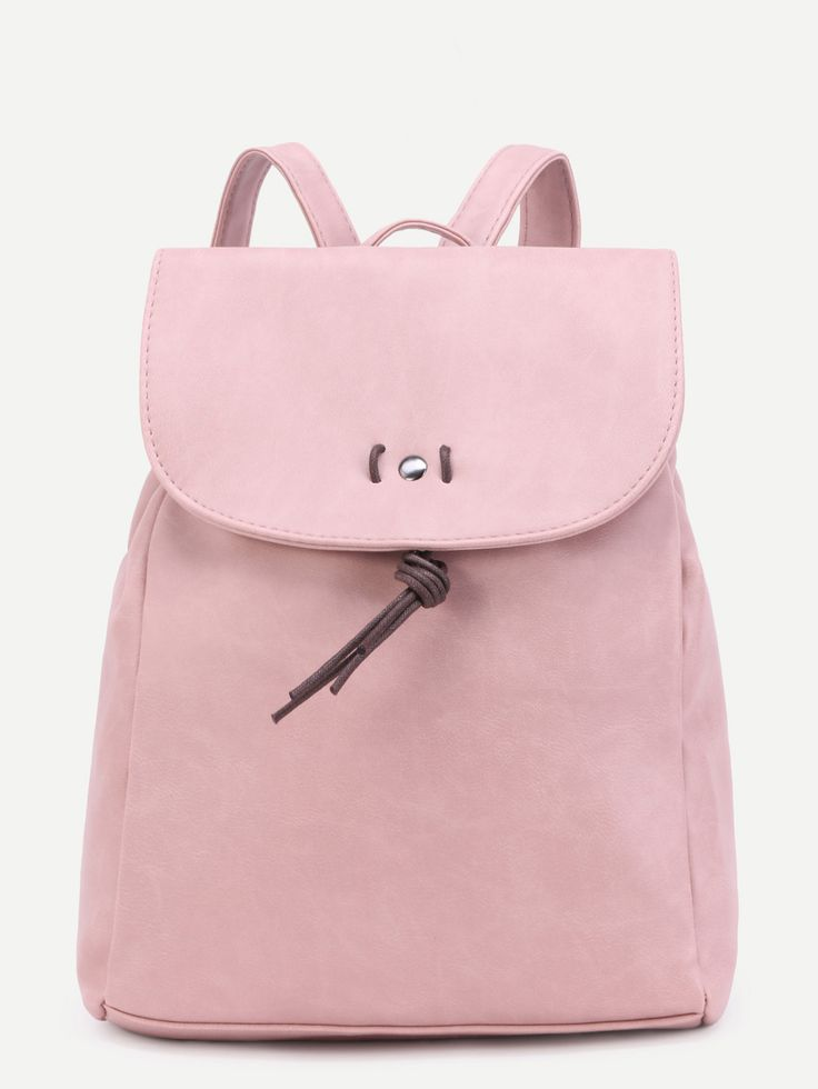 Shop Pink Faux Leather Flap Backpack online. SheIn offers Pink Faux Leather Flap Backpack & more to fit your fashionable needs.
