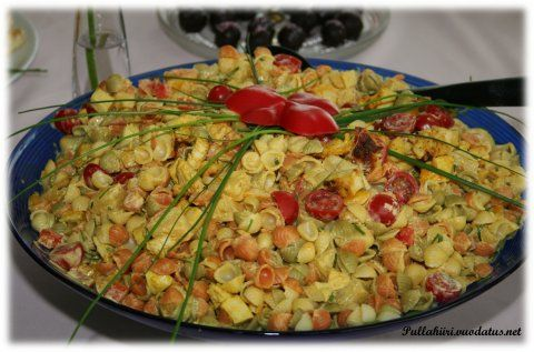 Pullahiiren leivontanurkka: Hedelmäinen broileri-pastasalaatti