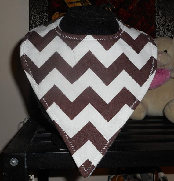 Cute as Baby Bib/Chevron Brown and White by Swanniebubs on Etsy