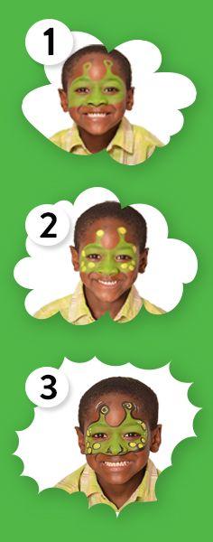 Alien face paint in 3 easy steps! #Snazaroo #alien #facepaint @Snazaroofaces