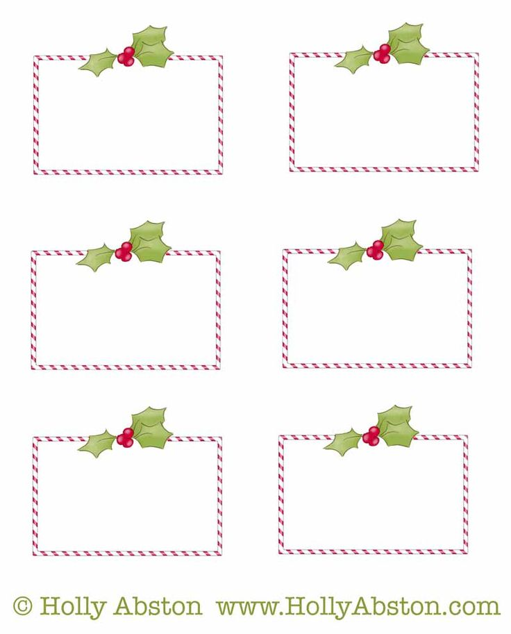 Freebie printable Christmas / Holiday tags for scrap-booking, gift-giving, name-tagging, etc. (personal use only)    www.hollyabston.com