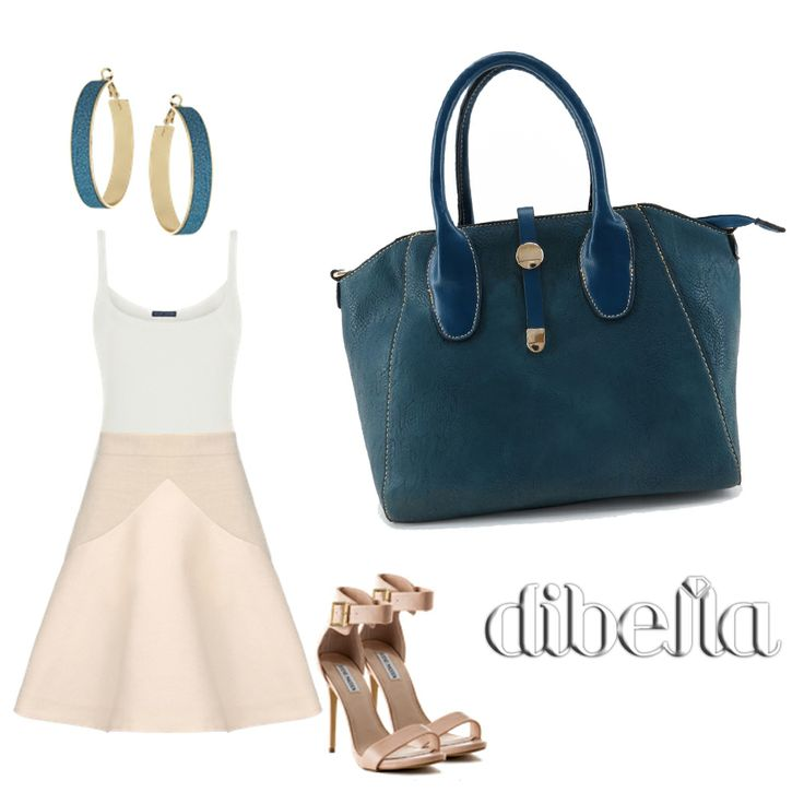 Look romântico! Bolsa feminina azul marinho, couro sintético. Bolsa clássica, bolsa elegante. #moda #bolsafeminina #bolsa #fashion #handbag #lojadibella www.lojadibella.com.br