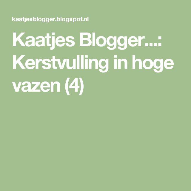 Kaatjes Blogger...: Kerstvulling in hoge vazen (4)