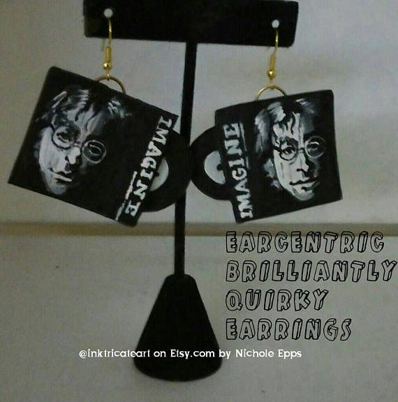 Check out this item in my Etsy shop https://www.etsy.com/listing/528475541/john-lennon-imagine-album-earrings