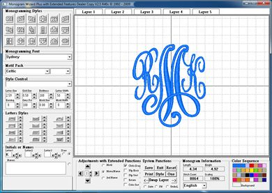 Monogram-Wizard-P... - the easist software -- create elegant monograms and name designs to stitch on your embroidery machine.