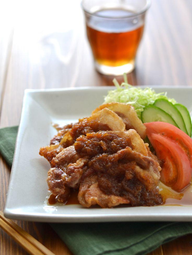 玉ねぎおろしだれの豚肉カリっとしょうが焼き by 西山京子/ちょりママ | レシピサイト「Nadia | ナディア」プロの料理を無料で検索