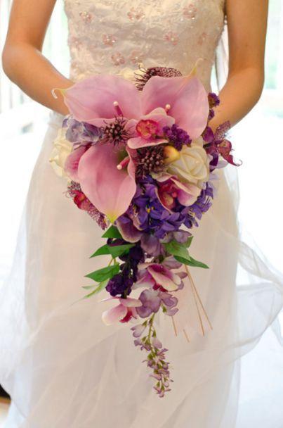 60 fancy cascading wedding bouquets ideas 34