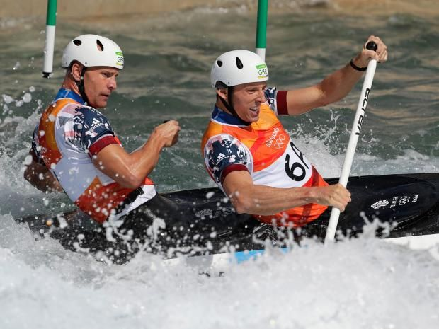 David Florence and Richard Hounslow take silver in canoe slalom
