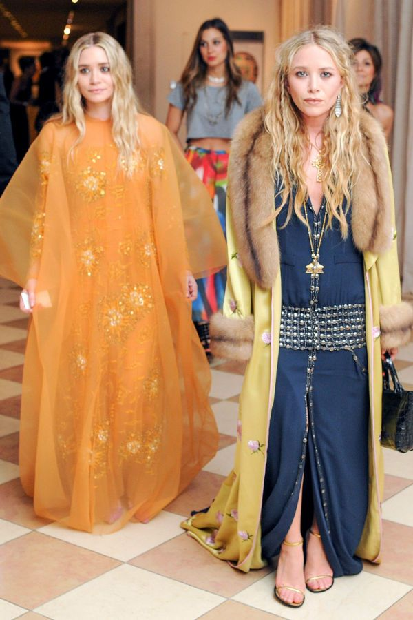 Mary-Kate and Ashley Olsen living the bohemian dream