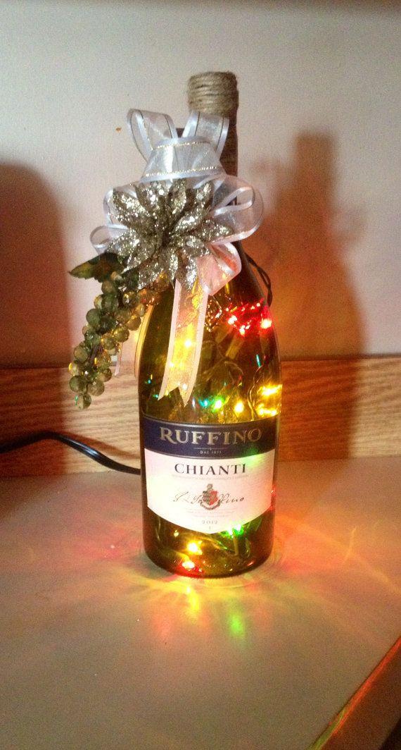 21 best images about lighted wine bottles on pinterest for Light up wine bottles