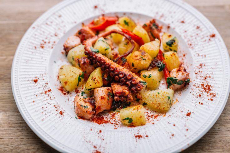 Aardappelsalade met octopus
