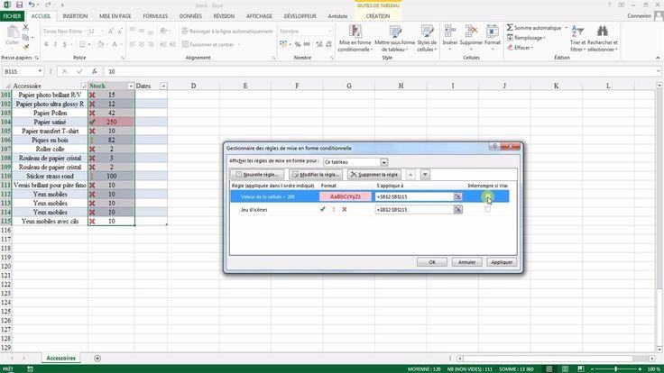 Tutoriel vidéo pour apprendre à utiliser les mises en forme conditionnelles d'Excel. Comment ajouter une règle de mise en surbrillance sur Excel ? Comment ajouter une barre de données, une nuance de couleurs ou un jeu d'icônes sur Excel ? Comment modifier ou supprimer une règle de mise en forme Excel ?  Pour lire ce tutoriel en version texte, rendez-vous sur Votre Assistante : http://www.votreassistante.net/utiliser-mise-en-forme-conditionnelle-excel