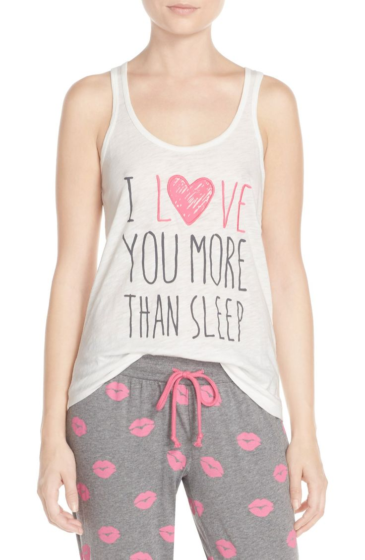 Crushing on this lightweight tank that's perfect for lounging and expressing the romantic feelings for the loved one.