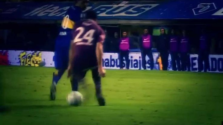 Tremendo caño de Riquelme sin tocar la pelota (Boca vs. Lanús)