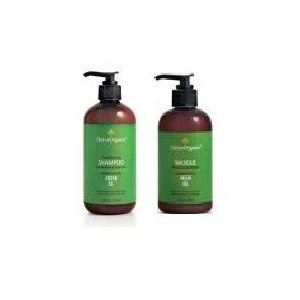 I love that this product is organic, but the shampoo and conditioner don't go as far as I would like them to go. I try to wash my hair as little as possible, and I find it harder to do that with this product. I would definitely buy this over any non-organic shampoo and conditioner, though. $38