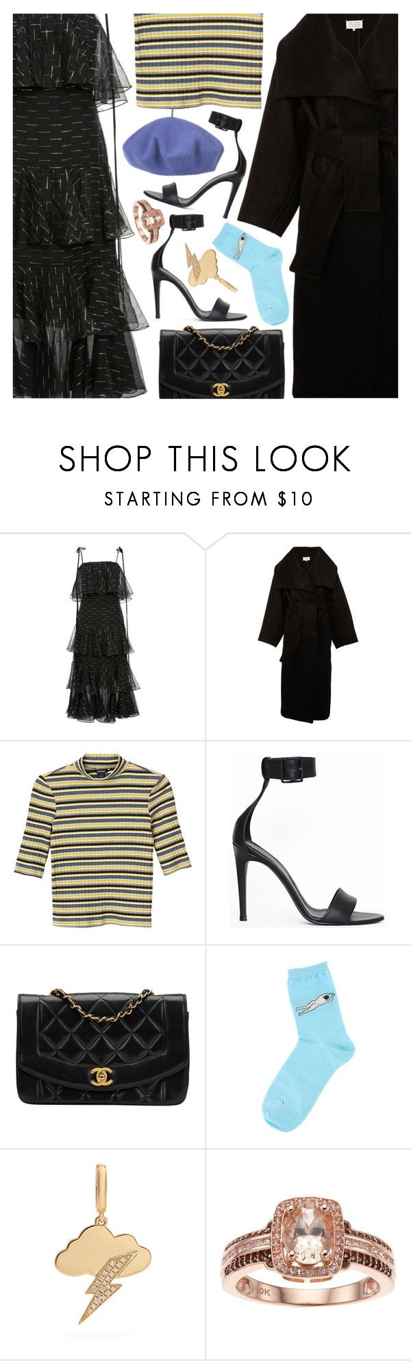 """Untitled #7304"" by amberelb ❤ liked on Polyvore featuring Johanna Ortiz, Maison Margiela, Monki, TIBI, Chanel, Annoushka and Betmar"