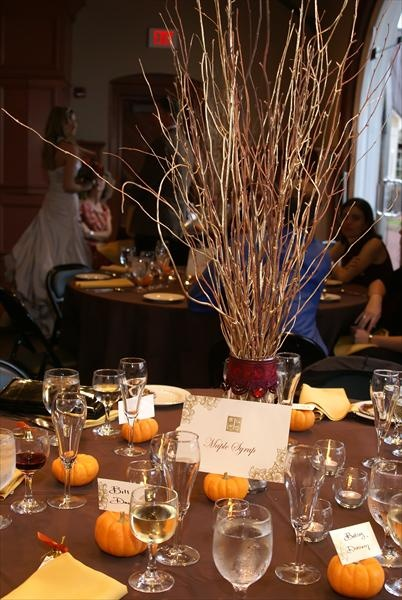 Fall Wedding Centerpieces With Branches