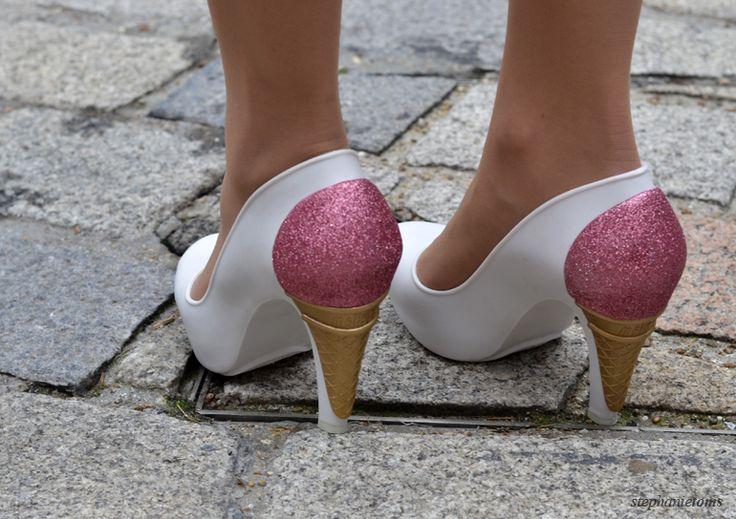 ICE ICE BABY Stephanie Toms: http://cocochic.creatorsofdesire.com  #fashion #lfw #streetstyle #shoeporn