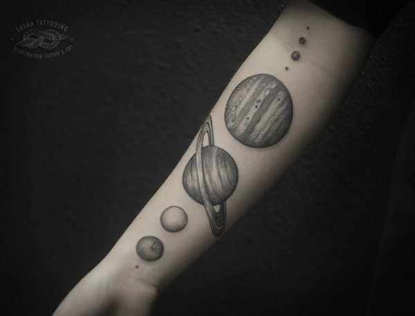 planets tattoo spine - photo #30