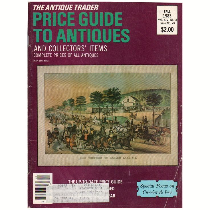 The Antique Trader Price Guide Currier & Ives Collectibles Fall 1983 Volume XIV No. 3 Issue No. 49