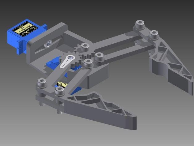 Robot Gripper 9g Micro Servo by yisparyan - Thingiverse