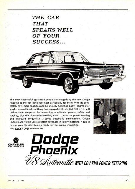 1965 AP2D Dodge Phoenix V8 Automatic Chrysler Australia