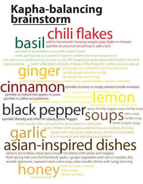 Ayurveda KAPHA - Balancing Foods - See more Kapha tips: http://www.foodpyramid.com/ayurveda/kapha-dosha/ #kapha #dosha #ayurveda