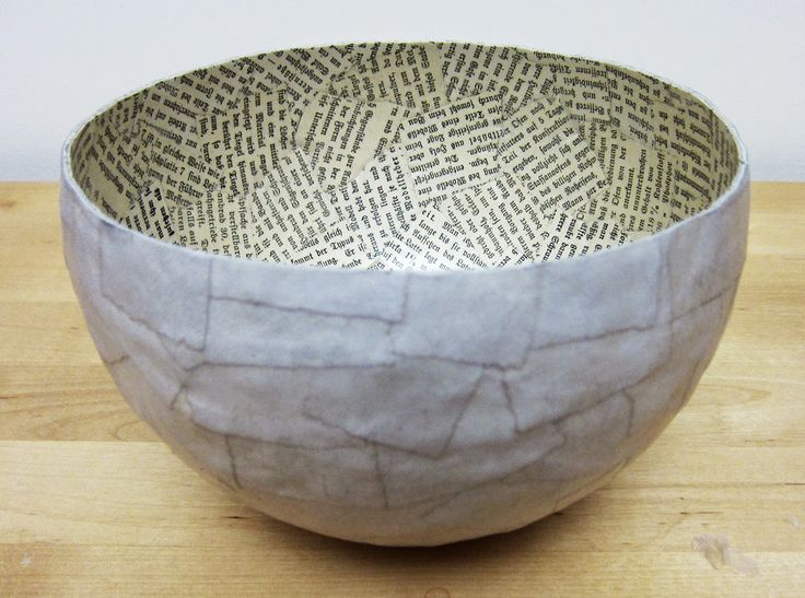 25 best ideas about paper mache bowls on pinterest for Best way to paper mache a balloon