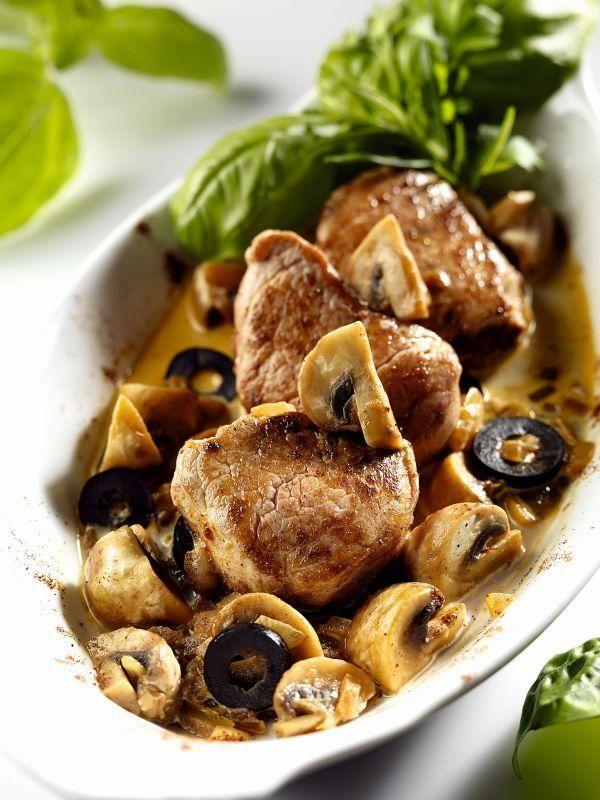 Friptură de porc cu ciuperci