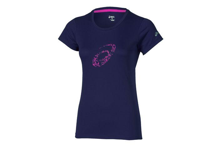 #Asics Graphic SS Top - damska koszulka biegowa z krótkim rękawkiem. Odprowadza pot i zapewnia ochronę przed promieniami UV. Zapewnia wysokie poczucia komfortu, podczas treningów w ciepłe i upalne dni. #damskie #jesienzima2015 #krotkierekawy #koszulka