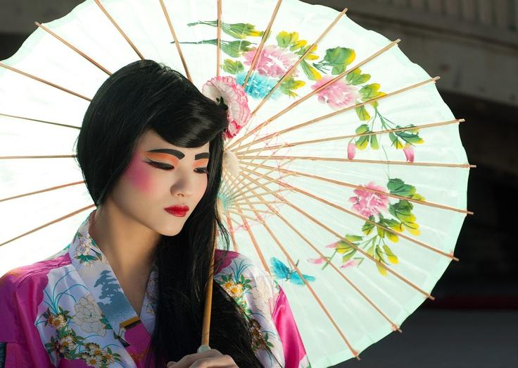 maquillaje disfraz geisha