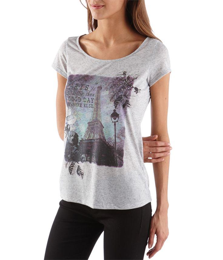CAMAIEU – T-shirt femme photo-print et messages