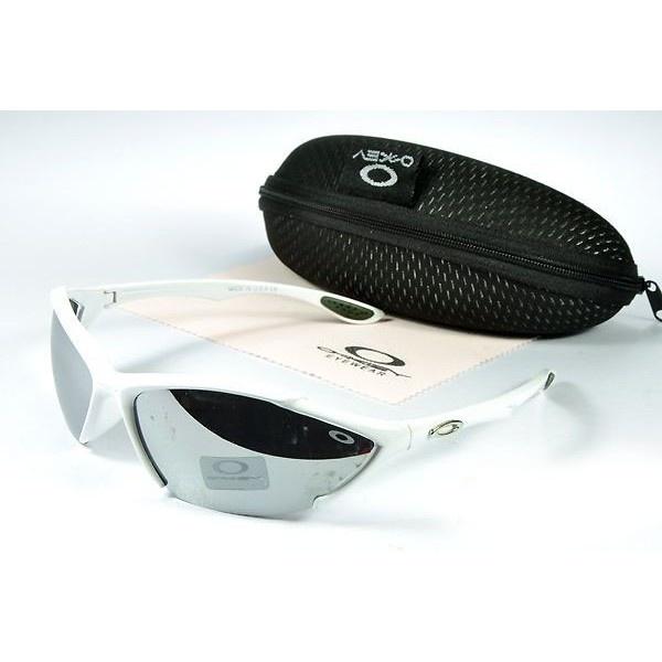 Oakley Women\u0027S Sunglasses Metal Grey Lens White Frames-20587