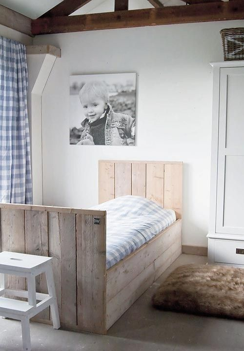 The rustic, coastal timber bed for Dan's room?
