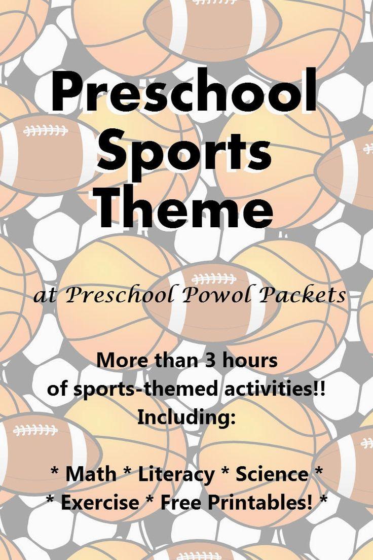 Sports Theme Preschool Lesson | Preschool Powol Packets