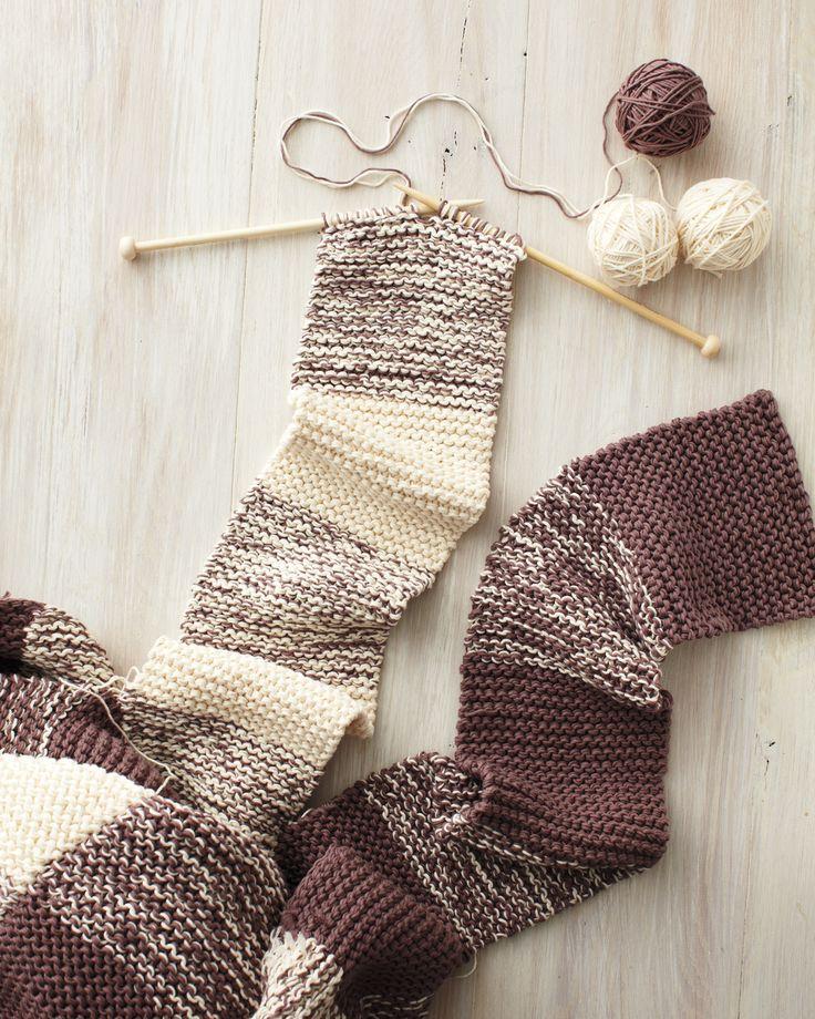 Gingham Knit Blanket How-To | Martha Stewart