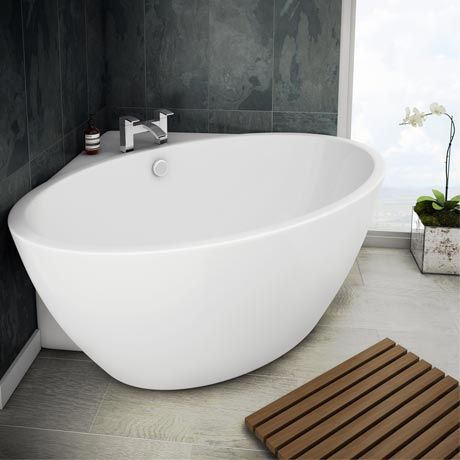 Orbit Corner Modern Free Standing Bath | Victorian Plumbing.co.uk